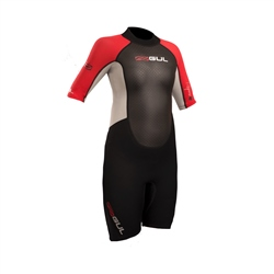 Gul Response 3/2mm Junior Shorty Wetsuit - Black & Red (2020)
