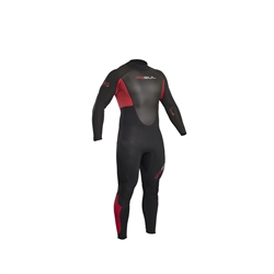 Gul Response FL 3/2mm Back Zip Wetsuit - Black & Red (2019)