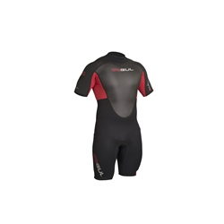 Gul Response 3/2mm Flatlock Shorty Wetsuit - Black Red (2020)