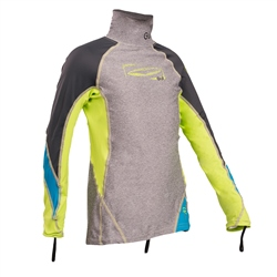 Gul Junior Long Sleeved Rash Vest - Marl & Lime
