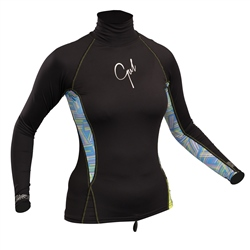 Gul Swami Ladies Long Sleeved Rash Vest - Black Lines