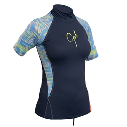 Gul Swami Ladies Rash Vest - Navy Lines