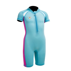Gul Junior UV Sunsuit - Turquoise & Pink