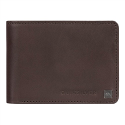 Quiksilver Mack Ix Leather Wallet - Chocolate Brown