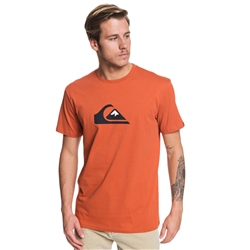 Quiksilver Comp Logo T-Shirt - Burnt Brick