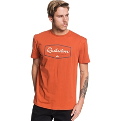 Quiksilver Inside Lines T-Shirt - Burnt Brick