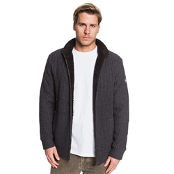 Quiksilver Boketto Zipped Knit - Tarmac