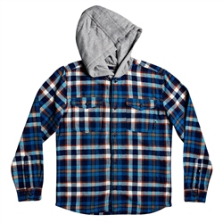Quiksilver Boys Snap Up Hooded Shirt - Moonlit Ocean