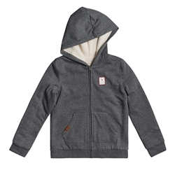 Roxy Say Love C Zipped Hoody - Charcoal