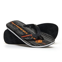 Superdry International Flip Flops - Black & Orange