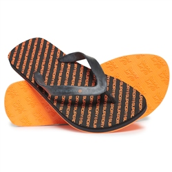 Superdry International Flip Flops - Orange & Black
