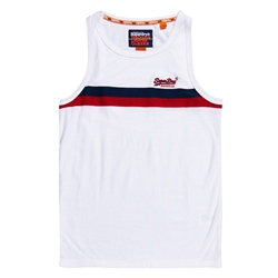 Superdry Tri Colour Vest - Optic