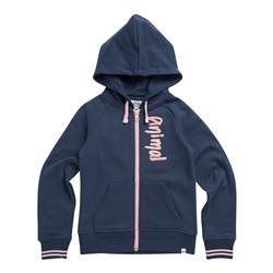 Animal College Zipped Hoody - Indigo Blue
