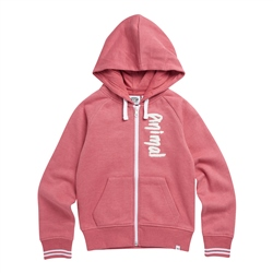 Animal College Zipped Hoody - Slate Rose Pink Marl