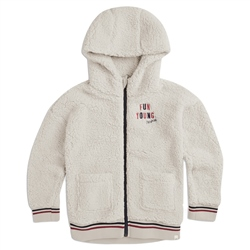 Animal Snuggle Zipped Hoody - Coconut Cream