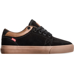 Globe GS Kids Shoes - Black Suede & Gum