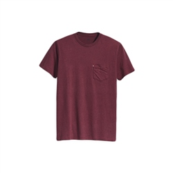 Levi's Set-In Sunset Pocket T-Shirt - Cabernet Red
