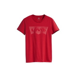 Levi's Perfect T-Shirt - Clear Gel Print & Brilliant Red