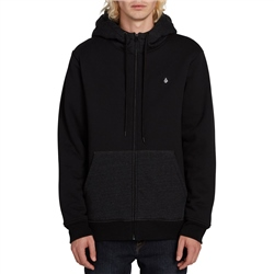 Volcom Single Stone Lined Zip Hoody - Black