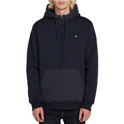 Volcom Single Stone Lined Zip Hoody - Navy