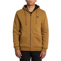 Volcom Single Stone Lined Zip Hoody - Rust