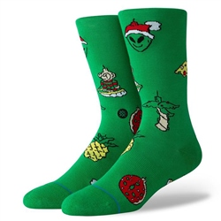 Stance Mens Xmas Ornament Socks - Green