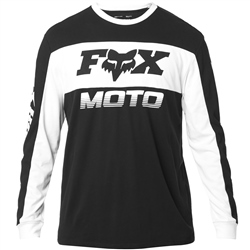 Fox Charger Long Sleeved Airline T-Shirt - Black & White
