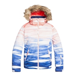 Roxy Jet Ski Snow Jacket - Blue & Orange