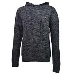 Salt Water Seeker Tab Knit Hoody - Navy Heather