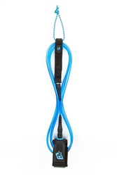 Creatures of Leisure 6' Competition Leash - Black & Cyan
