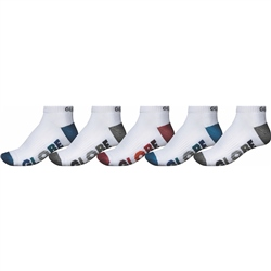 Globe Multi Stripe Ankle Socks  5 Pack - White