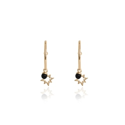 Joma Jewellery Onyx Star Earrings - Gold