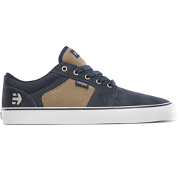 Etnies Barge LS Shoes - Navy, Brown & White