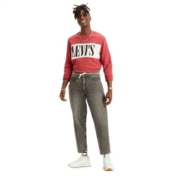 Levi's Logo Colorblock Sweatshirt - Earth Red & White