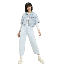 Levi's Short Sleeved Crop Dad Jacket - Jeffery