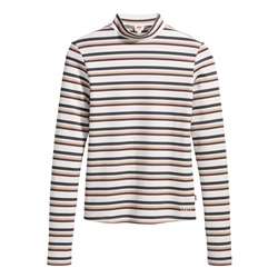 Levi's Penny Moonneck T-Shirt - Stripe Cloud Dancer