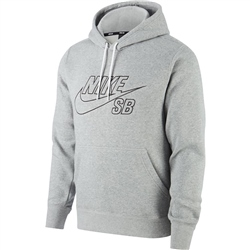 Nike SB Embroided Icon Hoody - Dark Grey & Black