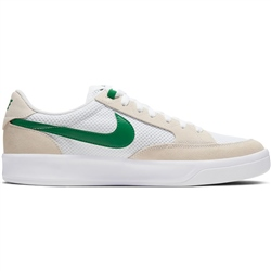 Nike SB Adversary Shoe - White & Pine Green