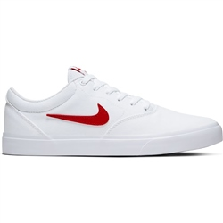 Nike SB Charge Canvas Shoe - White & University Red