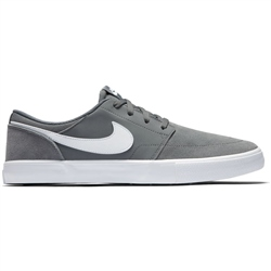 Nike SB Solarsoft Portmore II Shoe - Cool Grey & White