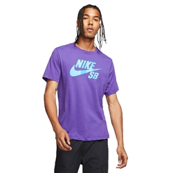 Nike SB Dri-FIT Logo T-Shirt - Court Purple & Laser Blue