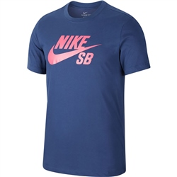 Nike SB Dri-FIT Logo T-Shirt - Midnight Navy & Watermelon