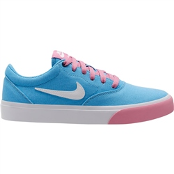 Nike SB Charge Canvas Shoe - University Blue, White & Magic Flamingo