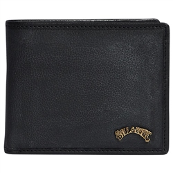 Billabong Arch Leather ID Wallet - Black