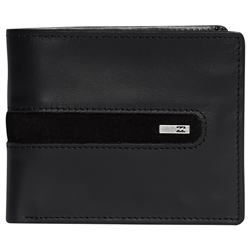 Billabong Dbah Leather Wallet - Black