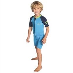 C-Skins C-Kid Baby Shorty Wetsuit - Cyan, Navy & Lime (2020)