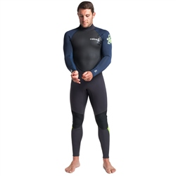C-Skins Element 3/2mm Flatlock Wetsuit - Anthracite, Bluestone & Lime (2020)