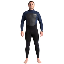 C-Skins Legend 3/2mm GBS Back Zip Wetsuit - Black, Slate & White (2020)
