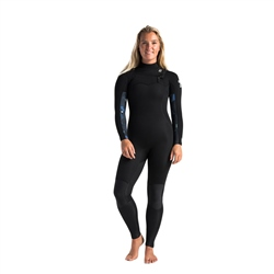 C-Skins Solace 4/3mm GBS Chest Zip Wetsuit - Black, Unity & Green Ash