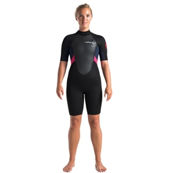 C-Skins Element Flatlock 3/2mm Shorty Wetsuit - Black, Slate & Coral (2020)